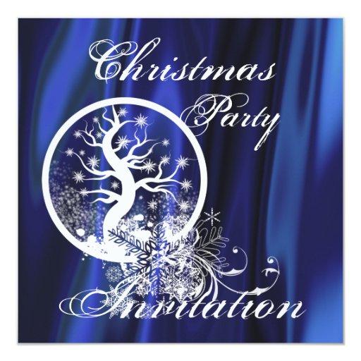 Invitación del fiesta del árbol de navidad invitación 13,3 cm x 13,3cm