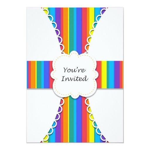 Invitación del fiesta del arco iris para todas las