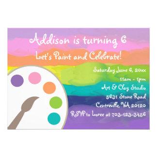 Invitación del fiesta del arte