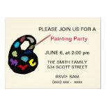 Invitación del fiesta del arte de la pintura