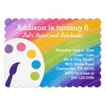 Invitación del fiesta del arte del arco iris