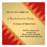 Invitación del fiesta del bachelorette del rojo an