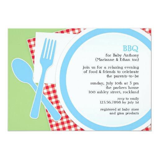 Invitación del fiesta del Bbq de la fiesta de Invitación 12,7 X 17,8 Cm