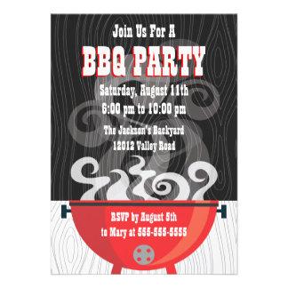 Invitación del fiesta del Bbq de Smokin