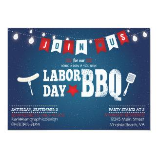 Invitación del fiesta del Bbq del Día del Trabajo