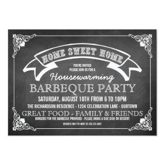 Invitación del fiesta del Bbq del estreno de una