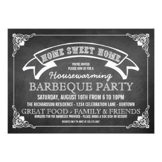 Invitación del fiesta del Bbq del estreno de una c