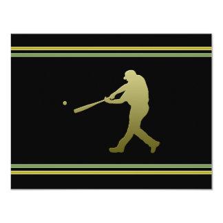 Invitación del fiesta del béisbol invitación 10,8 x 13,9 cm