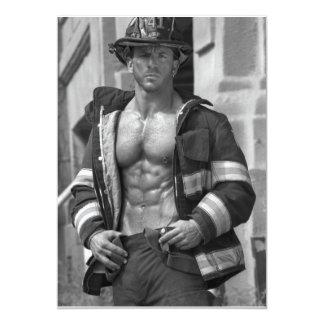 Invitación del fiesta del bombero de Bachelorette