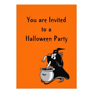 Invitación del fiesta del Brew de las brujas de Ha