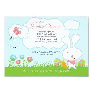Invitación del fiesta del brunch de Pascua de la
