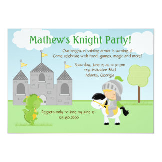 Invitación del fiesta del caballero