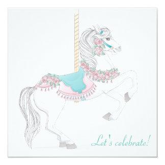 Invitación del fiesta del caballo del carrusel