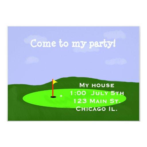 Invitación del fiesta del campo de golf