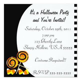 Invitación del fiesta del caramelo de Halloween
