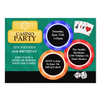 Invitación del fiesta del casino