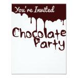 Invitación del fiesta del chocolate