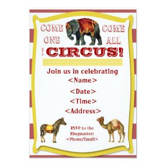 Invitación del fiesta del circo
