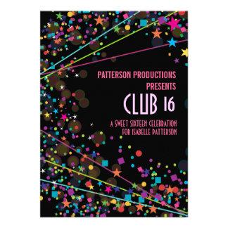Invitación del fiesta del club del dulce 16 de las