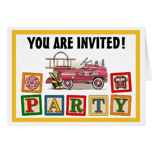 Invitación del fiesta del coche del pedal del coch felicitacion