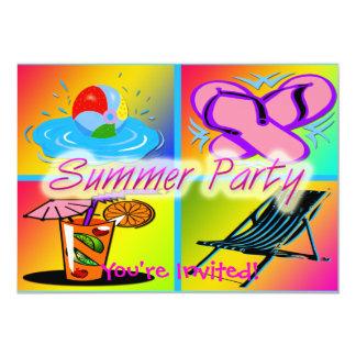 Invitación del fiesta del collage del verano