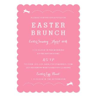 Invitación del fiesta del conejito el   Pascua del
