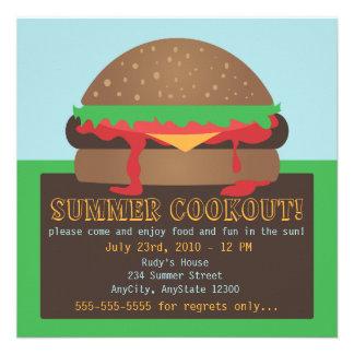 Invitación del fiesta del Cookout del verano