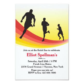 Invitación del fiesta del corredor de maratón invitación 8,9 x 12,7 cm