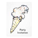 Invitación del fiesta del cucurucho del helado