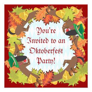 Invitación del fiesta del dachshund de Oktoberfest