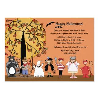 Invitación del fiesta del desfile de Halloween