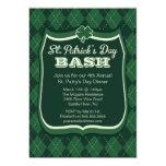 Invitación del fiesta del día de Argyle St Patrick