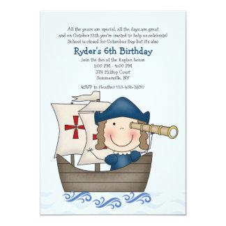 Invitación del fiesta del día de Colón