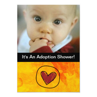 invitación del fiesta del día de la adopción