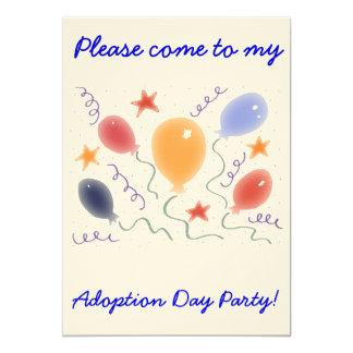 Invitación del fiesta del día de la adopción de