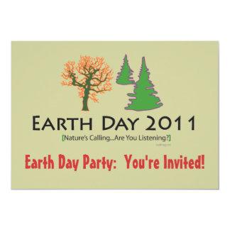 Invitación del fiesta del Día de la Tierra