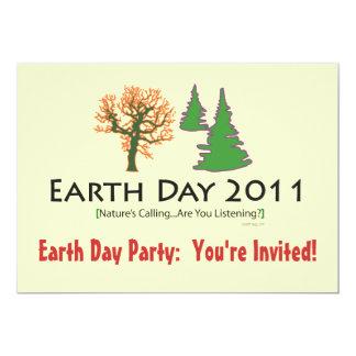Invitación del fiesta del Día de la Tierra 2011