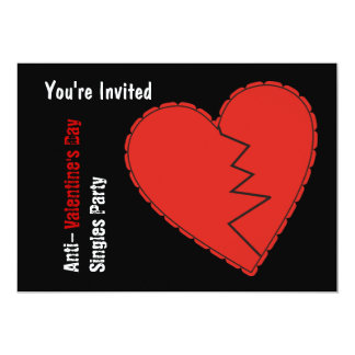 Invitación del fiesta del día de las Anti-Tarjetas Invitación 12,7 X 17,8 Cm