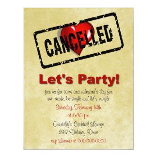 Invitación del fiesta del día de las Anti-Tarjetas