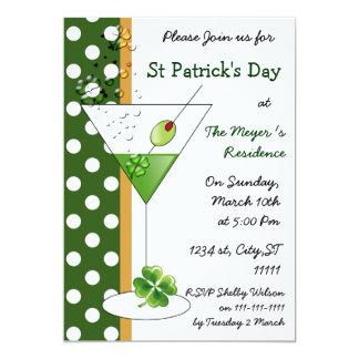 invitación del fiesta del día de martini St