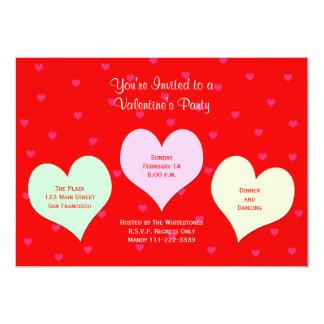Invitación del fiesta del día de San Valentín -