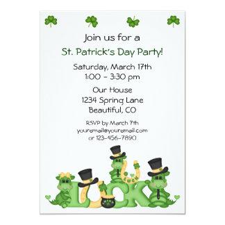 Invitación del fiesta del día de St Patrick