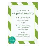 Invitación del fiesta del día de St Patrick Invitación 12,7 X 17,8 Cm