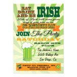 Invitación del fiesta del día de St Patrick del es