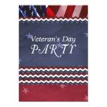 Invitación del fiesta del día de veterano