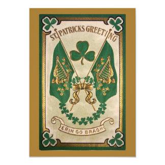 Invitación del fiesta del día del St. Patricks