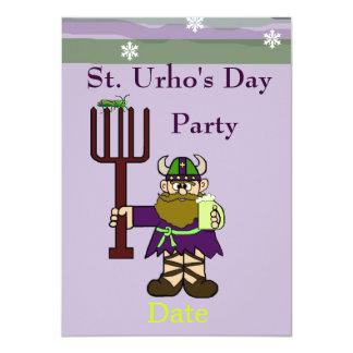 Invitación del fiesta del día del St. Urho con St.