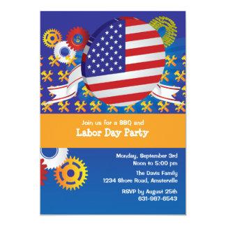 Invitación del fiesta del Día del Trabajo