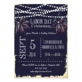 Invitación del fiesta del Día del Trabajo de los