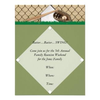 Invitación del fiesta del diamante de béisbol
